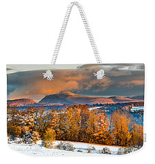 Vermont Snowliage Scene Weekender Tote Bag by Tim Kirchoff