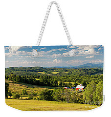 Weekender Tote Bag featuring the photograph Vermont Summer Vista by Alan L Graham
