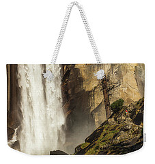 Vernal Falls And Hiker - Yosemite Weekender Tote Bag