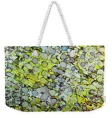 Weekender Tote Bag featuring the painting Vernal Showers Ink #12 by Sarajane Helm