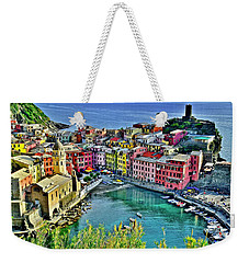 Vernazza Alight Weekender Tote Bag by Frozen in Time Fine Art Photography