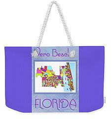 Vero Beach Map1 Weekender Tote Bag
