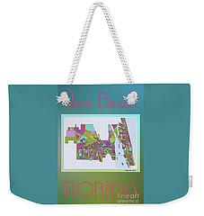 Vero Beach Map2 Weekender Tote Bag