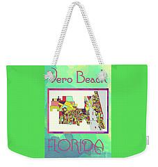 Vero Beach Map4 Weekender Tote Bag