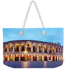 Weekender Tote Bag featuring the photograph Verona Arena by Fabrizio Troiani