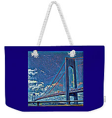 Verrazano Bridge Weekender Tote Bag by Rita Tortorelli