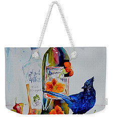 Still Life With Steller's Jay Weekender Tote Bag