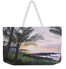 Weekender Tote Bag featuring the painting Version 2 by Teresa Beyer