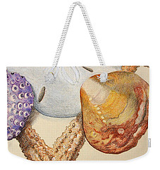 Vertical Starfish Weekender Tote Bag