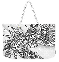 Weekender Tote Bag featuring the drawing Verve by Jan Steinle