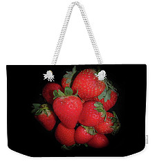 Weekender Tote Bag featuring the photograph Very Berry Strawberries by Judy Hall-Folde
