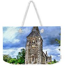 Very Old Church Weekender Tote Bag by Pennie  McCracken