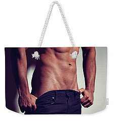 Very Sexy Man With Great Muscular Body Weekender Tote Bag