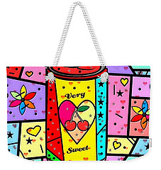 Weekender Tote Bag featuring the digital art Very Sweet Popart By Nico Bielow by Nico Bielow