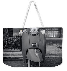 Weekender Tote Bag featuring the photograph Vespa by Sebastian Musial