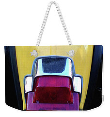 Weekender Tote Bag featuring the photograph Vespa Style by Rebecca Harman
