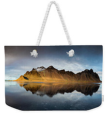 Weekender Tote Bag featuring the photograph Vestrahorn Panao by Allen Biedrzycki