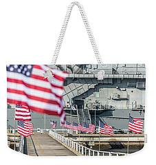Veterans Day At Uss Yorktown Weekender Tote Bag