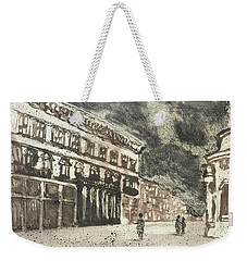 Weekender Tote Bag featuring the painting Via Del Corso Rome,piranesi Paraphrase by Martin Stankewitz