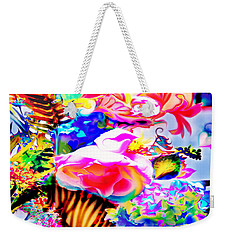 Weekender Tote Bag featuring the photograph Vibe Vase by Adria Trail