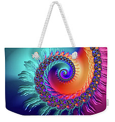 Vibrant And Colorful Fractal Spiral  Weekender Tote Bag