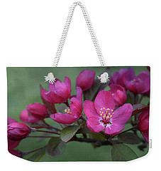 Weekender Tote Bag featuring the photograph Vibrant Blooms by Ann Bridges