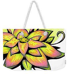 Vibrant Flower 8 Weekender Tote Bag