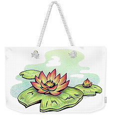 Vibrant Flower 2 Water Lily Weekender Tote Bag