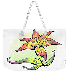Vibrant Flower 4 Tiger Lily Weekender Tote Bag