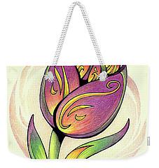 Vibrant Flower 5 Tulip Weekender Tote Bag