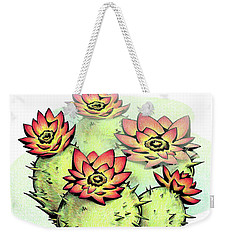 Vibrant Flower 6 Cactus Weekender Tote Bag