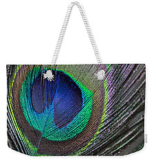Vibrant Green Feather Weekender Tote Bag