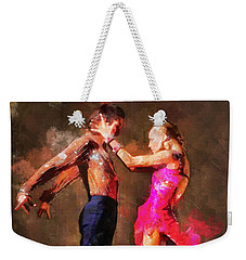 Vibrant Tango Weekender Tote Bag by Shirley Stalter