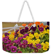 Vibrant Violas Weekender Tote Bag by JAMART Photography