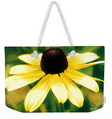 Vibrant Yellow Coneflower Weekender Tote Bag by Judy Palkimas