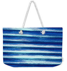 Vibrations Of Blue Weekender Tote Bag
