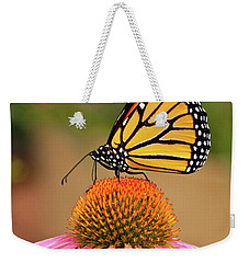 Monarch Butterfly On A Purple Coneflower Weekender Tote Bag