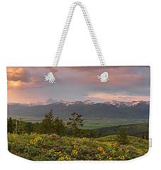 Victor Idaho Sunset Weekender Tote Bag