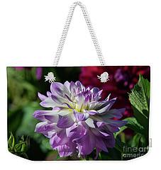 Victoria Ann Dahlia Weekender Tote Bag