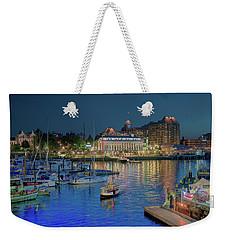Victoria At Night Weekender Tote Bag