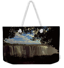 Weekender Tote Bag featuring the photograph Victoria Falls, Zimbabwe by Travel Pics