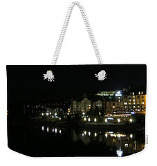 Victoria Harbor Night View Weekender Tote Bag by Betty Buller Whitehead