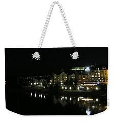 Victoria Harbor Night View Weekender Tote Bag