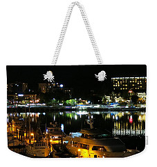 Victoria Inner Harbor At Night Weekender Tote Bag by Betty Buller Whitehead