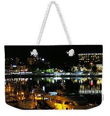 Victoria Inner Harbor At Night Weekender Tote Bag