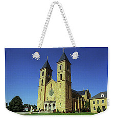 Weekender Tote Bag featuring the photograph Victoria, Kansas - Cathedral Of The Plains 6 by Frank Romeo