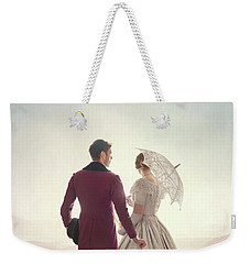 Victorian Couple Standing In A Meadow Weekender Tote Bag