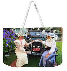 Victorian Girls Weekender Tote Bag by Linda Weinstock