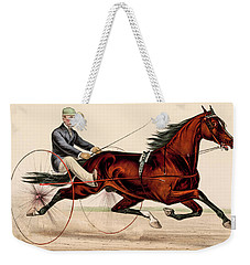 Victorian Horse Carriage Race Weekender Tote Bag