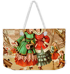 Victorian Ice Skaters Weekender Tote Bag